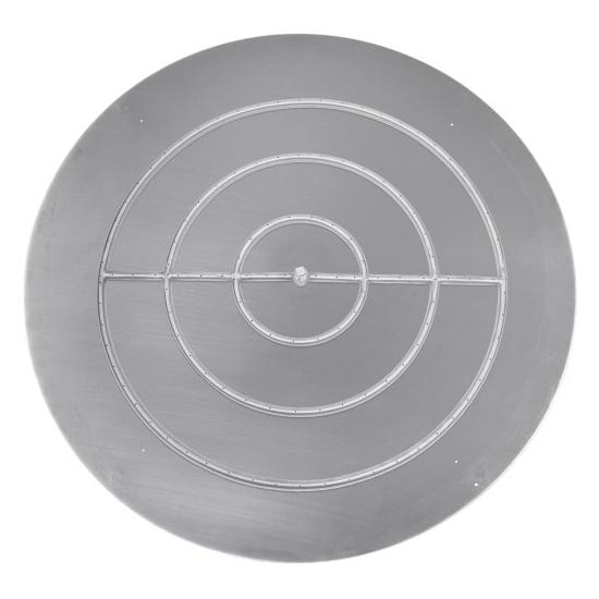 Stainless Steel Round Flat Pan & Round Burner