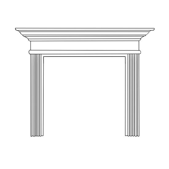 Sandringham Fireplace Wood Mantel