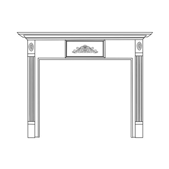 Stirling Fireplace Wood Mantel