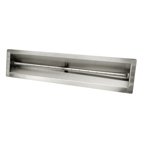V-Trough Drop In Pan Match Lit Fire Pit Insert With Linear Burner