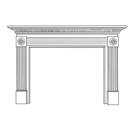 Vinland Fireplace Wood Mantel
