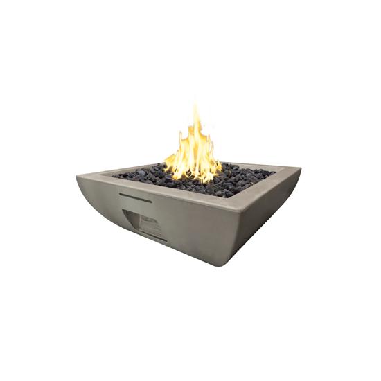 """36"""" Bordeaux Square Fire Bowl"""