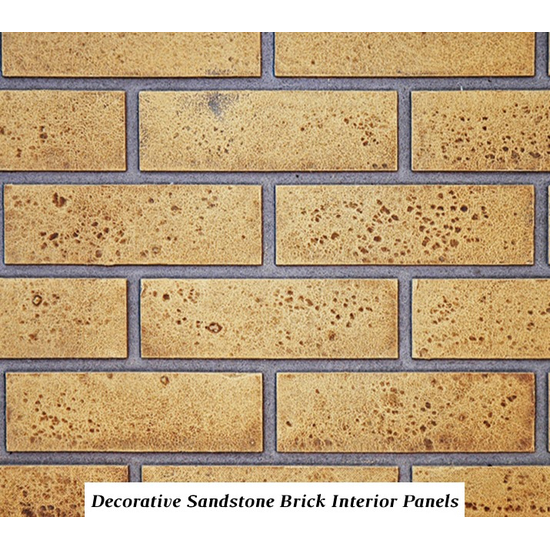 Sandstone brick firebox panels