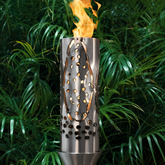 Coral Stainless Steel Tiki Torch Head