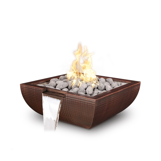 Avalon Copper Fire & Water BowlFire bowl installation diagramFire bowl components overviewOptional key valve upgrade for fire bowlsFire bowl installation WITH key valveFire bowl installation with NO key valveBowl Clearance