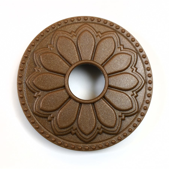 Magnetic Non-Metal Glamour Gold Flange Cover - Hermosa Design