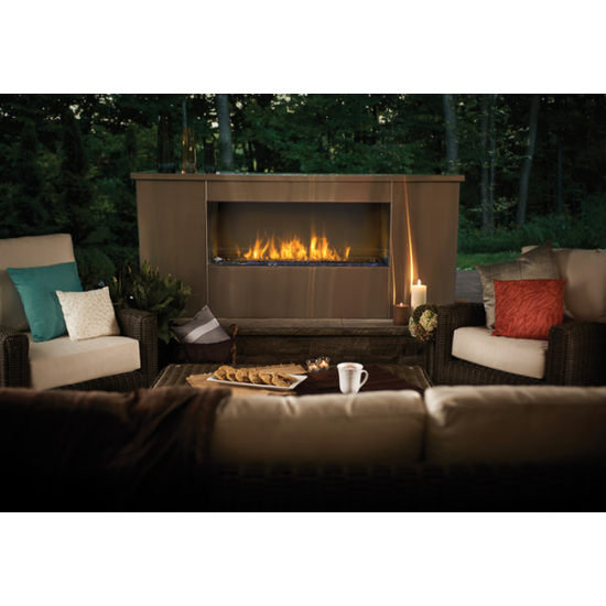 Installed Galaxy Outdoor Fireplace