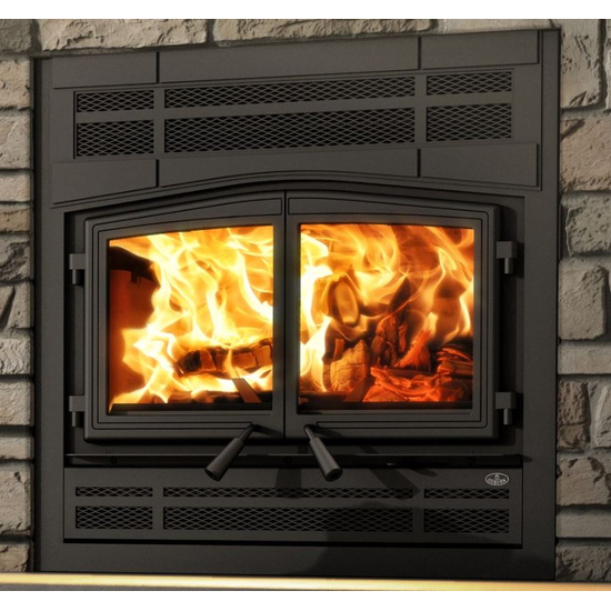 Stratford Fireplace with Prairie Style Face Plate