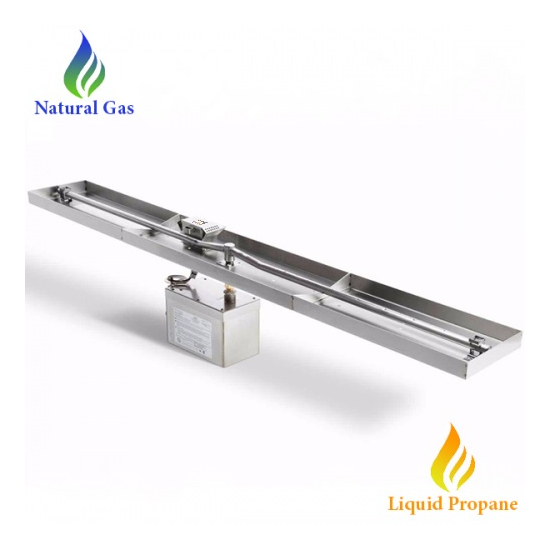 HPC 37 Inch Linear Hi/Lo Electronic Ignition Fire Pit Insert