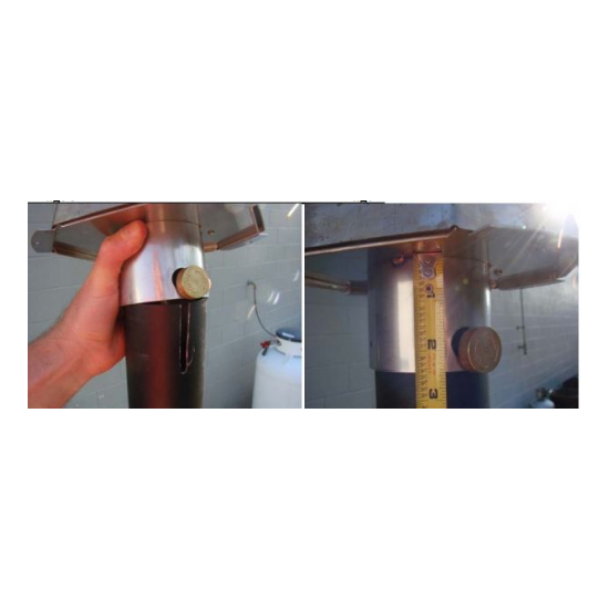 The Hammered Copper match lit TK torch burner assembly is made of stainless steel, then powder coated in black.