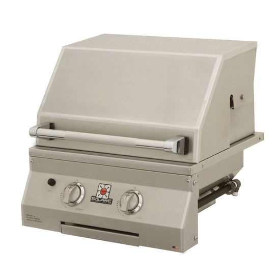 21 Inch Solaire Built In Gas Grill shown closed