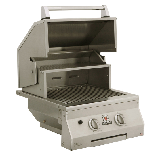 21 Inch Solaire Built In Gas Grill shown open