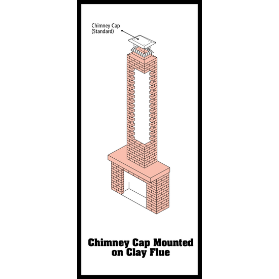 Chimney Cap Clay Flue Mounted