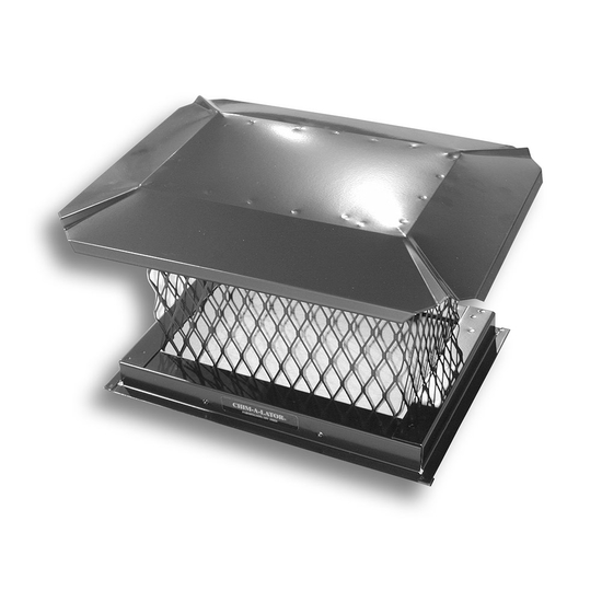 Square Black Galvanized Steel Chimney Cap