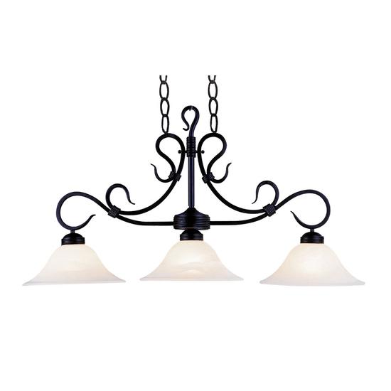 3-Light Buckingham Island Light in Matte Black