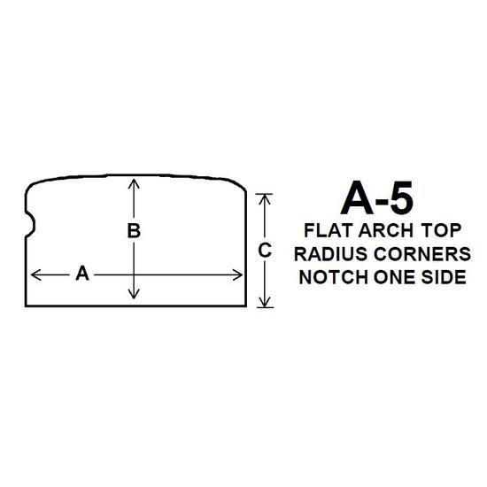 Pyroceram Glass A5 Specialty Shape Cut