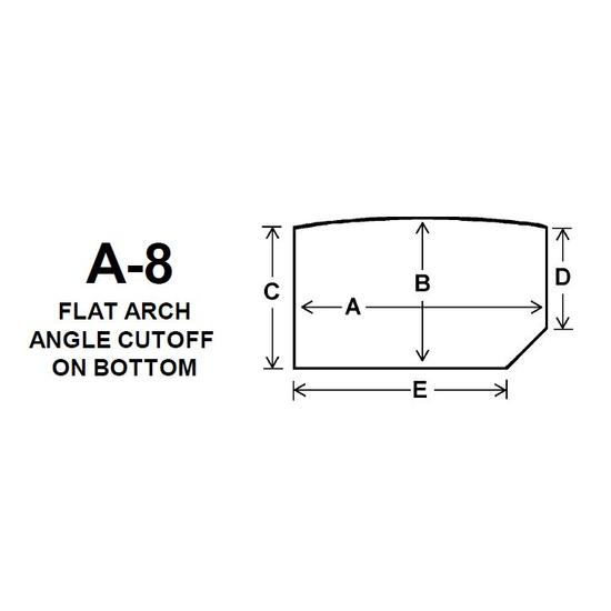 Pyroceram Glass A8 Specialty Shape Cut