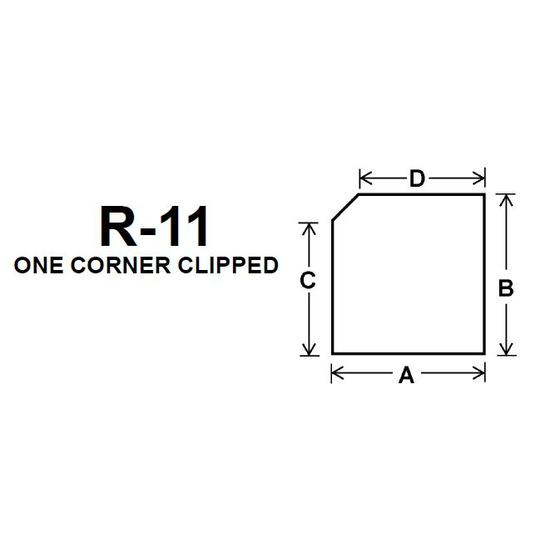Pyroceram Glass R11 Specialty Shape Cut