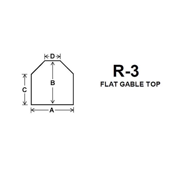 Pyroceram Glass R3 Specialty Shape Cut