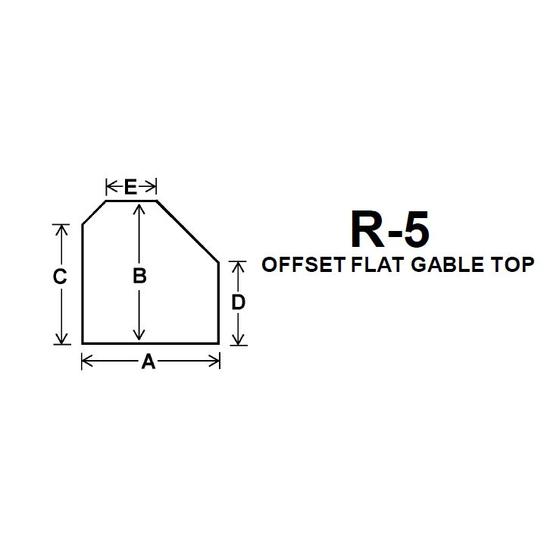 Pyroceram Glass R5 Specialty Shape Cut