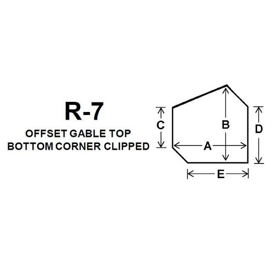 Pyroceram Glass R7 Specialty Shape Cut