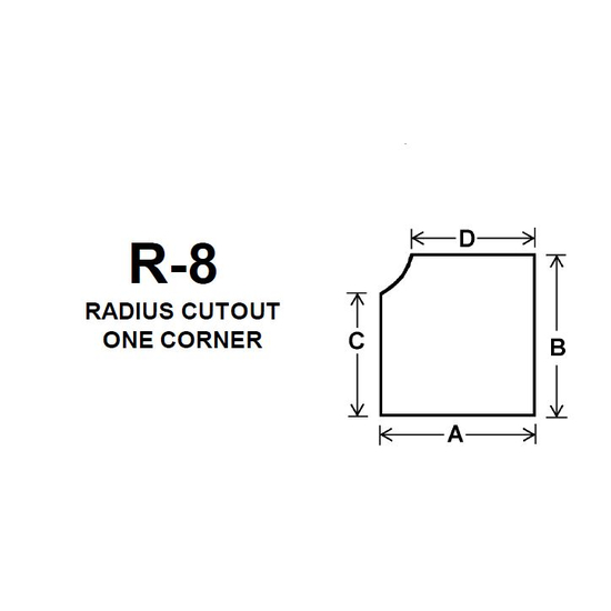 Pyroceram Glass R8 Specialty Shape Cut