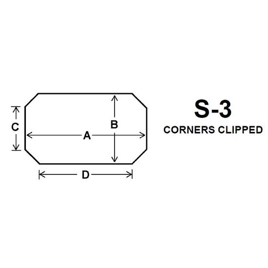 Pyroceram Glass S3 Specialty Shape Cut