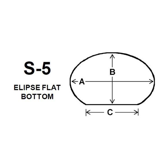 Pyroceram Glass S5 Specialty Shape Cut
