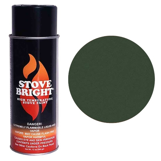 Metallic Moss Green High Temperature Stove Spray Paint