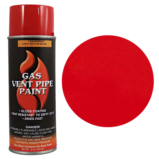 Red Gas Vent Pipe Spray Can