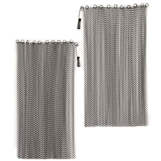 """Stainless Steel 1/4"""" Weave Fireplace Mesh Screen Sets"""