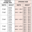 Pioneer Sizing Chart
