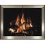 """Pinnacle Hidden Frame Masonry Fireplace Door - Brite Nickel Doors - has 1/2"""" back frame shown"""