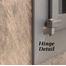 Cascade Fireplace Door hinge detail