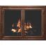 Weathered Brown Finish Denali Fireplace Door