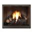 Essex Masonry Fireplace Door in Matte Black Shown With Bottom Draft