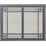 Prairie Direct Vent Screen With Operable Doors shown in Silver