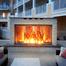Custom Classic Masonry Fireplace Glass Door Installed
