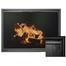 Arlington Fireplace Door for prefab fireplaces shown in Satin Black