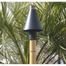 Black Cone manual light tiki torch kit (shown with included faux bamboo pole).