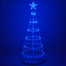 Animated Outdoor Blue LED Lightshow Tree