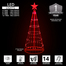 Red LED Light Show Tree Badge Graphic