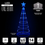 Blue LED Light Show Tree Badge Graphic