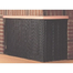 Custom recessed screen for L shaped fireplace