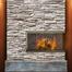 Silhouette Masonry Corner Fireplace Door in Vintage Brass