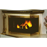 Genesis Corner Fireplace Door in Plated Antique Brass with All Glass Corner