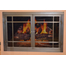 3724 FDM Hearthworks Fireplace Door With Climbing Rose Detail Finished In Natural Iron
