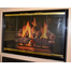 3825 Mystique Fireplace Door Gloss Black And Polished Brass