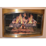 3724 FDM Bay Window Fireplace Door With Climbing Rose Detail Finished In Antique Copper