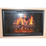 Flat Black Horizon Fireplace Door